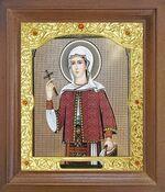 Филофея Румынская Св. Мч. Икона в деревянной рамке с окладом (Д-26псо-161)