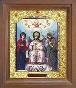 Царь Славы. Икона в деревянной рамке с окладом (Д-26псо-162)