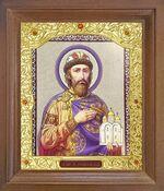 Ярослав Мудрый. Икона в деревянной рамке с окладом (Д-26псо-163)