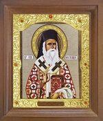 Нектарий Эгинский. Икона в деревянной рамке с окладом (Д-26псо-164)
