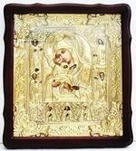 Почаевская Б.М.. Храмовая икона в фигурном киоте, в ризе, с багетом, 33 Х 38
