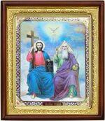 Троица, икона в деревянной рамке (Д-18пс-61)