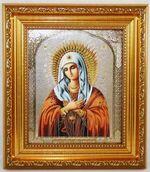 Умиление  Б.М. Икона в багетной рамке 14 Х 16