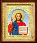 Спаситель, икона в деревянной рамке (Д-18пс-20)
