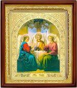Троица, икона в деревянной рамке (Д-18пс-60)