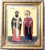 Киприан и Устинья, Икона в багетной рамке 19 Х 22
