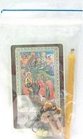 Рождество Христово. Набор для домашней молитвы (Zip-Lock). Лик, молитва, свечка, ладан, крестик