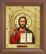 Спаситель. Икона в деревянной рамке с окладом (Д-26псо-19)