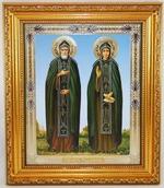 Петр и Феврония, Икона в багетной рамке 14 Х 16, партия 20 шт.