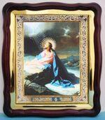 Моление о чаше, в фигурном киоте, с багетом. Храмовая икона (43 Х 50)