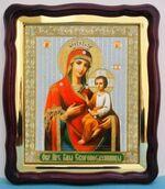 Скоропослушница Б.М., в фигурном киоте, с багетом. Храмовая икона (43 Х 50)
