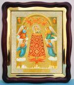 Прибавление ума Б.М., в фигурном киоте, с багетом. Храмовая икона (43 Х 50)