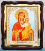 Смоленская Б.М., в фигурном киоте, с багетом. Храмовая икона (43 Х 50)