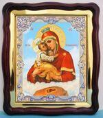 Почаевская Б.М., в фигурном киоте, с багетом. Большая аналойная икона (28 Х 32)