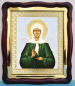 Матрона Московская, в фигурном киоте, с багетом. Храмовая икона (43 Х 50)