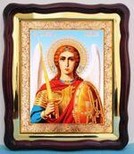 Арх. Михаил (пояс), в фигурном киоте, с багетом. Храмовая икона (43 Х 50)