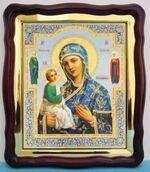 Иерусалимская Б.М., в фигурном киоте, с багетом. Храмовая икона (43 Х 50)