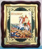 Дмитрий Донской, в фигурном киоте, с багетом. Храмовая икона (43 Х 50)