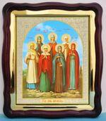 Жены Мироносицы, в фигурном киоте, с багетом. Храмовая икона (43 Х 50)