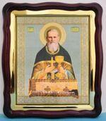 Иоанн Кронштадский, в фигурном киоте, с багетом. Храмовая икона (43 Х 50)