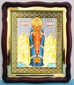 Лука (рост), в фигурном киоте, с багетом. Храмовая икона (43 Х 50)