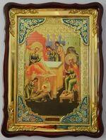 Рождество Иоанна Предтечи, в фигурном киоте, с багетом. Храмовая икона (60 Х 80)