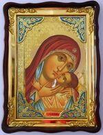 Касперовская  Б.М., в фигурном киоте, с багетом. Храмовая икона (60 Х 80)