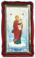 Благодатное небо Б.М., в фигурном киоте, с багетом. Храмовая икона (35 Х 60)