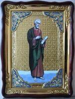 Апостол Иаков Заведеев, в фигурном киоте, с багетом. Храмовая икона (60 Х 80)
