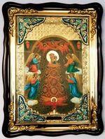 Прибавление ума Б.М., в фигурном киоте, с багетом. Храмовая икона (60 Х 80)