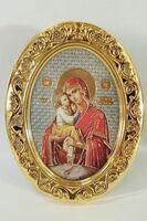 Почаевская Б.М. Икона настольная малая, овал.