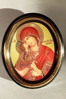 Донская Б.М. Икона настольная малая, зол. кант, овал. (50 Х 65)