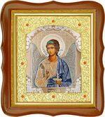 Ангел Хранитель, средняя аналойная икона, фигурный киот (Д-20фс-01)