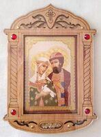Петр и Феврония (пояс). Икона настольная, резная, фигурная, JERUSALEM
