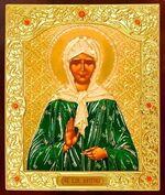 Матрона Московская. Икона в окладе малая (Д-22-39)