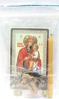 Скоропослушница Б.М.  Набор для домашней молитвы (Zip-Lock). Лик, молитва, свечка, ладан, крестик