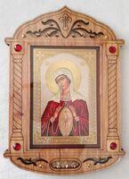 Помошница в родах. Икона настольная, резная, фигурная, JERUSALEM