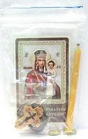 Призри на смирение Б.М.  Набор для домашней молитвы (Zip-Lock). Лик, молитва, свечка, ладан, крестик