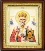 Николай Чудотворец, икона в деревянной рамке (Д-18пс-25)