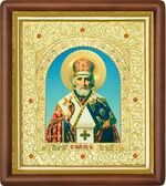 Николай Чудотворец, средняя аналойная икона (Д-20пс-26)
