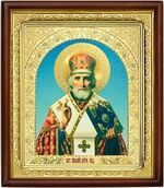 Николай Чудотворец, икона в деревянной рамке (Д-18пс-26)