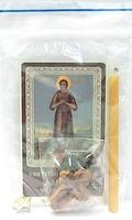 Алексий Человек Божий. Набор для домашней молитвы (Zip-Lock). Лик, молитва, свечка, ладан, крестик