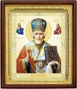 Николай Чудотворец, икона в деревянной рамке (Д-18пс-27)