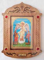 Ангел с детьми. Икона настольная, резная, фигурная, JERUSALEM