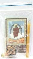 Спорительница хлебов Б.М.  Набор для домашней молитвы (Zip-Lock). Лик, молитва, свечка, ладан, крестик