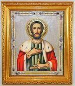 Александр Невский, Икона в багетной рамке 19 Х 22