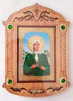 Ксения Петербургская (пояс). Икона настольная, резная, фигурная, JERUSALEM