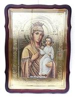 Избавительница Б.М., в фигурном киоте, с багетом. Храмовая икона 60 Х 80 см.