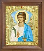 Ангел Хранитель. Икона в деревянной рамке с окладом (Д-25псо-03)