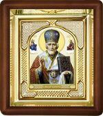 Николай Чудотворец, малая аналойная икона, риза (Д-3с-27)